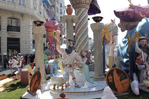 Falla Ribera – Convent de Santa Clara Valencia 2015 con Zeus Hera y Hércules