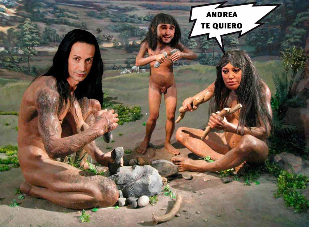 Sandro Rey, Kiko Rivera y Belén Esteban en una parodia mesolítica de Gran Hermano Vip