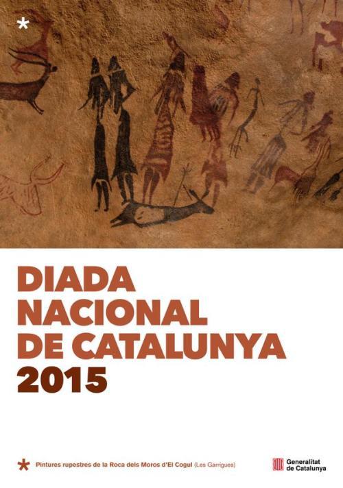 Cartel Diada Nacional Catalunya 2015 pinturas rupestres El Cogul