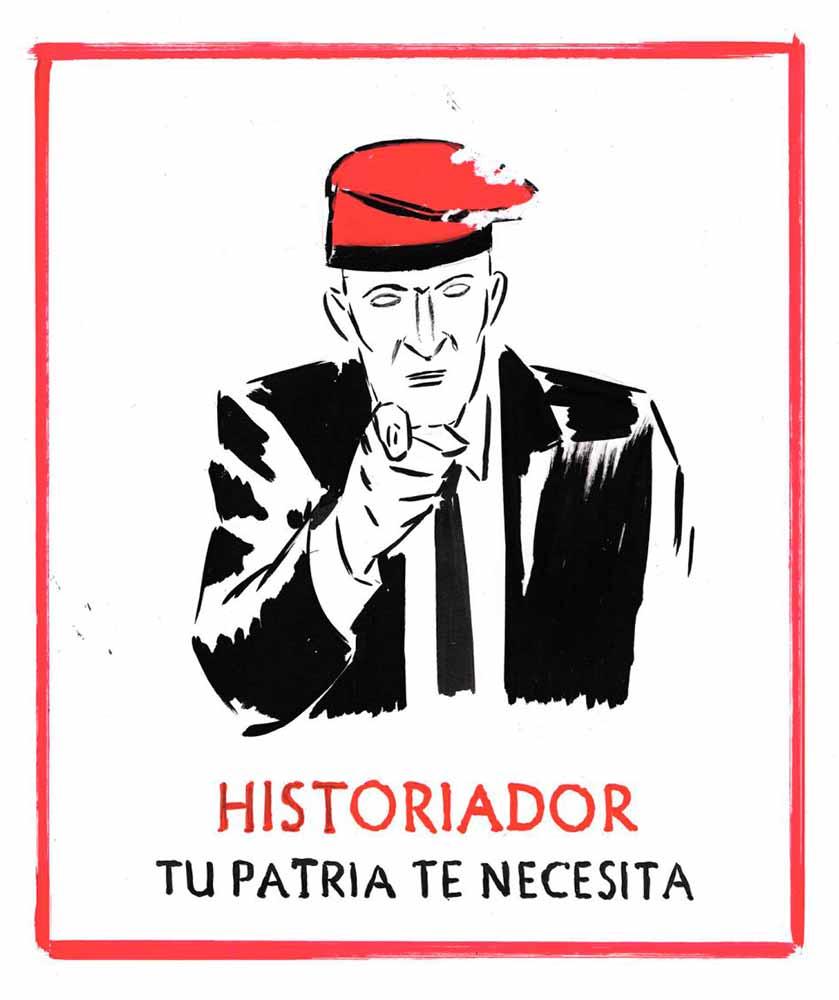Viñeta El Roto Historiador tu patria te necesita