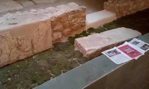 Restos arqueológicos romanos en el palacio de los Borgia Les Corts Valencia