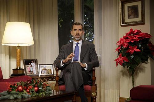 El rey Felipe VI en el tradicional discurso de Nochebuena