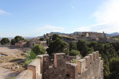 Vistas del castillo de Sagunto
